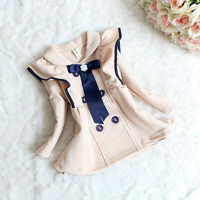 Baby Kids Lotus leaf collar princess temperament girls windbreaker jacket YF112