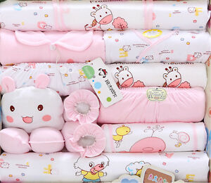 18pcs Set Newborn Baby Clothes Girls Boys Clothing Set Cute Infant