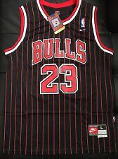 Michael Jordan Throwback Chicago Bulls Pinstripe Jersey Size Large