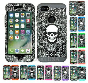 For-Apple-iPhone-7-amp-7-Plus-KoolKase-Hybrid-Silicone-Cover-Case-Skull-66