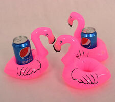 Mini Flamingo Floating Inflatable Drink Can Mobile Phone Holder Station Pool Toy
