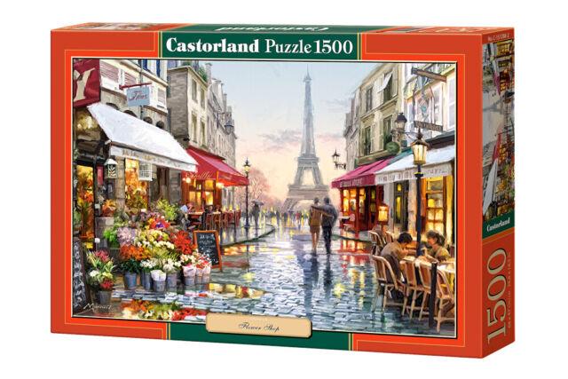 Puzzle 1500 pieces Fleuriste a Paris  68x47cm neuf de marque Castorland