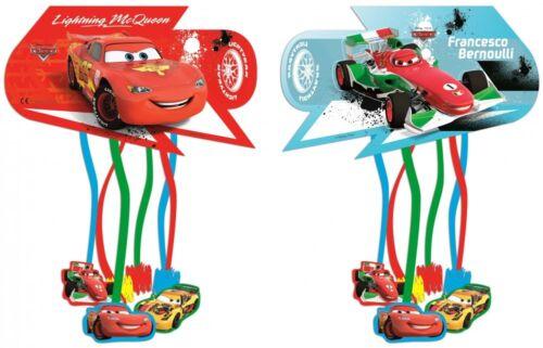 Cars Pinata rot blau 30 cm Zieh Pinata Kindergeburtstag Mottoparty Neu Disney