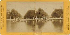 Versailles Parigi Foto Stereo Vintage Albumina Ca 1875