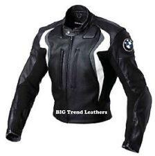 Chaquetas De Cuero Negro BMW Motocicleta Moto chaquetas Moto GP Bikers Chaquetas