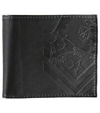 Metal Mulisha STATEMENT Black Debossed Chevron logo Men's Bi-Fold Wallet