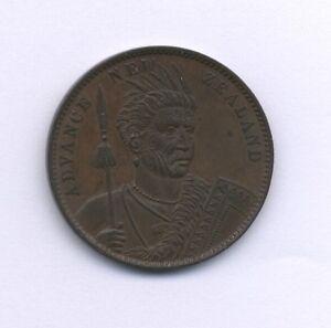 NEW-ZEALAND-CIRCA-1880-1-PENNY-TOKEN-ALMOST-UNCIRCULATED-AND-ORIGINAL
