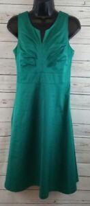 947d4f18aa87 Merona Teal Green Lined A-Lined Sleeveless Dress Women's size 2 | eBay