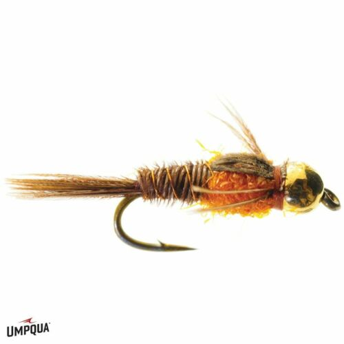 1 Hot Belly Pheasant Tail Nymph Orange Size 14 16 or 18 Umpqua Feather Merchants