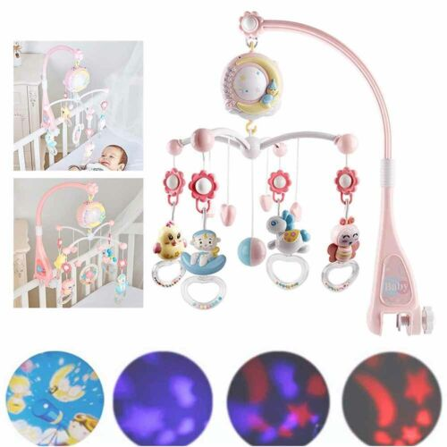 Baby/'s Musical Crib Bed Cot Mobile Stars Dreams Light Flash Nusery Lullaby Toys