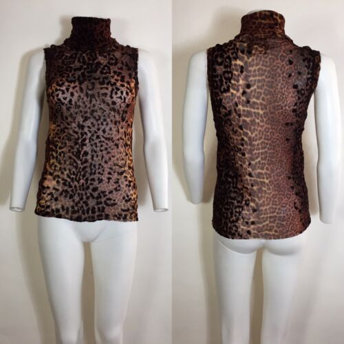 Rare Vtg Jean Paul Gaultier Leopard Velvet Spot Sl
