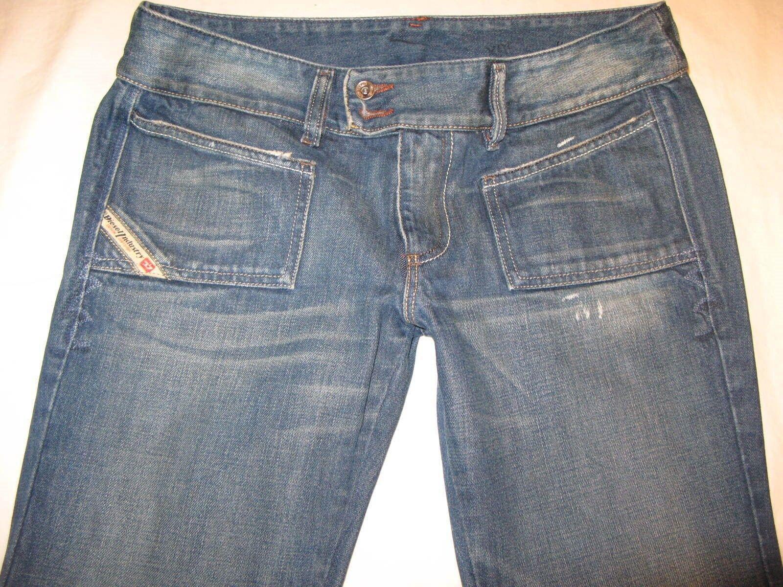 Diesel Hush DS Jeans Sz 30 Low Boot 100% Cotton Distressed Wash 70L