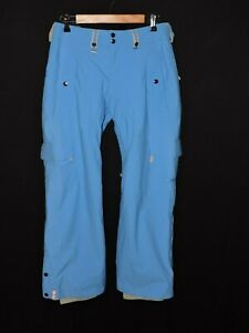 Bonfire-Blue-Snowboarding-Pants-Blue-Classic-Fit-Gold-Vented-Ski-Insulated-Small