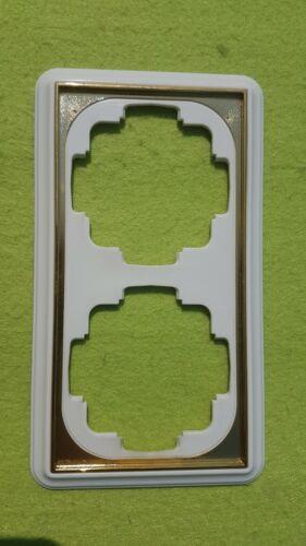 Gira Trias Gala 2-fach Rahmen mit Goldkante reinweiß