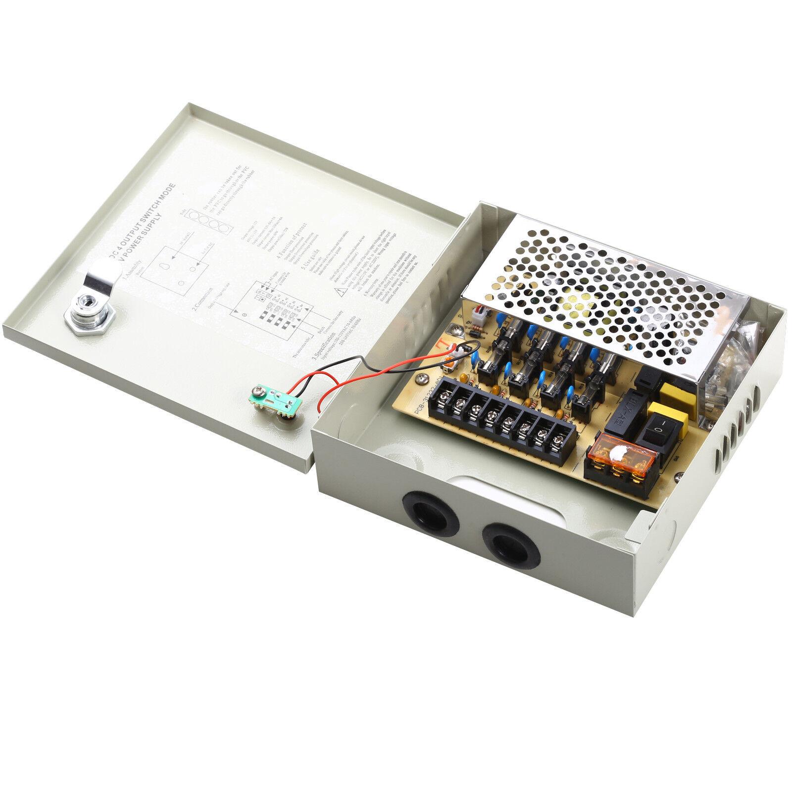 4ch power supply box distribution cctv camera ptc fuse 4