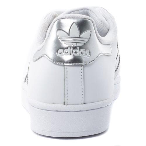 Eu bianca in argento Superstar Adidas Aq3091 pelle da 38 ginnastica Scarpe Uk 5 0wqO4PH