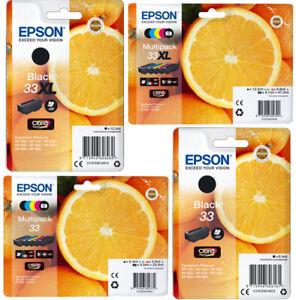 ORIGINAL-EPSON-33-33xl-Orange-Tinte-Patronen-XP540-XP640-XP900-XP530-XP630-XP635