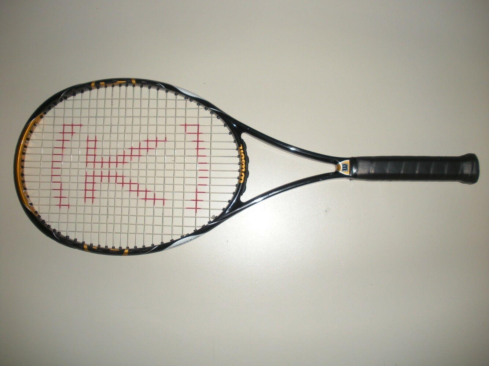 Wilson K-factor K-Blade 98  18X20 tenis raqueta 4 1 2 (nuevas cuerdas)  gran descuento