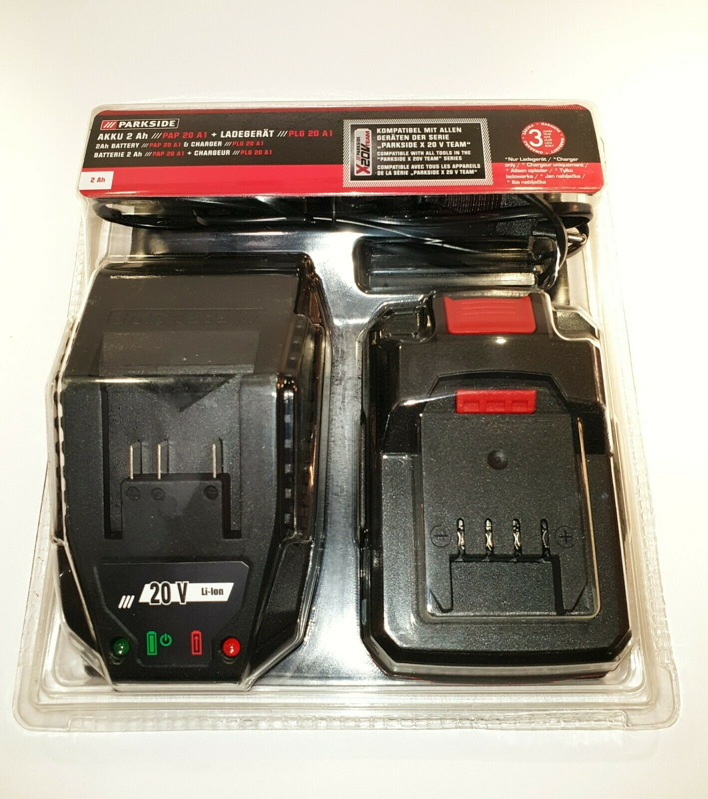 Parkside Doppel Schnell Batterieladegerät Pdslg 20 A1 Kompatibel W Zubehör X