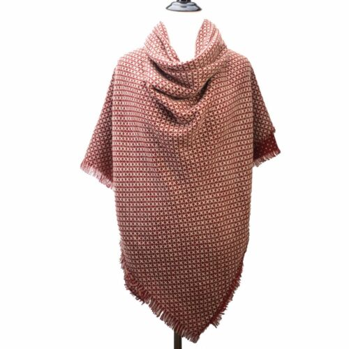 New Women Large Blanket Scarf Polka Dot Double Sided Wrap Shawl Scarf S372