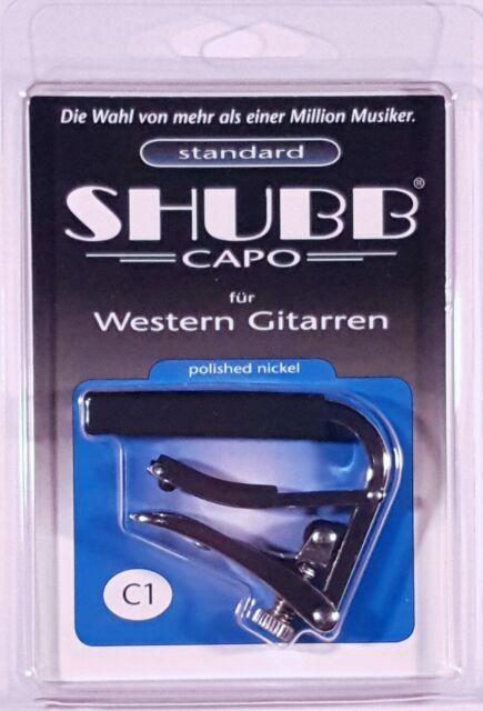 Shubb Capo  C1 Capodaster  Western- und E-Gitarre