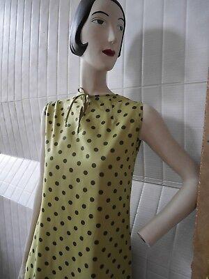 Abito 60er Polka Dots Verde Abito Estivo Punti 60s True Vintage Silky Rockabilly- Essere Romanzo Nel Design