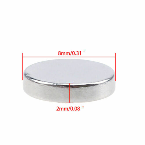 1//50//100Pcs Super Strong Round Cylinder Magnets N35 8 x 2mm Rare Earth Neodymium