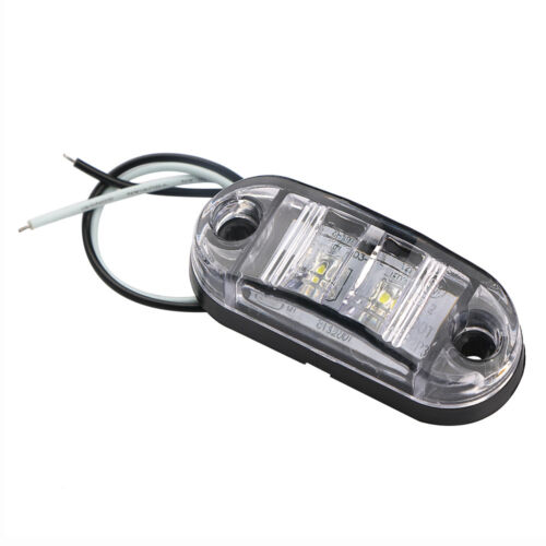 12V 2 LED Auto Car Truck Trailer Caravan Side Marker Tail Lights Clearance Lamp