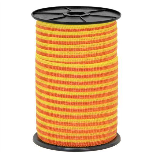 500m 10mm Band Zaun Weide Weidezaunband Weideband Niro gelb orange Weidezaun