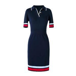 AUTH-Ted-Baker-YNIAA-Stripe-detail-mockable-dress-Navy-Size-2