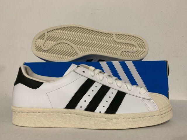 08995f888763 Adidas Originals Superstar 80 s Retro Athletic Shoes White Black Chalk   G61070