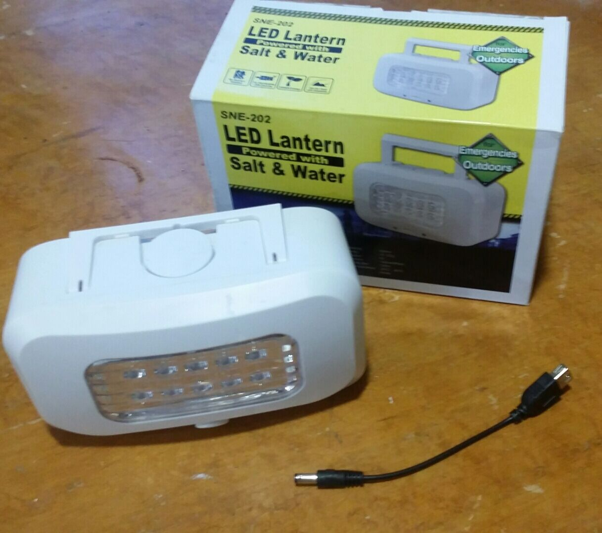Led Lantern Powered by  Salt Water  save up to 80%