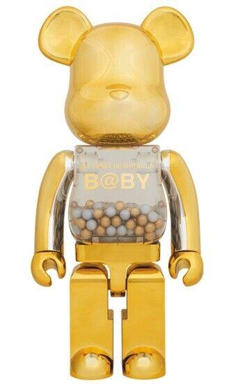 Medicom giocattolo il mio primo BE@RBRICK B@BY 400% oro e argentoo