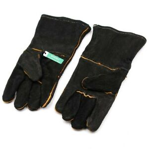 Heat Resistant Leather Gloves Stove logs coals fireplace wood Burner Welding