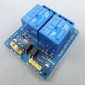 2-Kanal-5V-10A-Relay-Relais-Module-Modul-Kupplung-fuer-Arduino-PIC-AVR-DSP-ARM