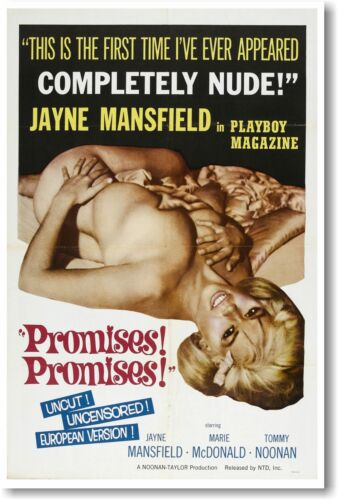 Promises Promises Jayne Mansfield NEW Vintage Reprint POSTER