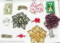 Wholesale Lot 12 Pc Assorted Fashion Costume Jewelry Cocktail Rings 1 Dozen A