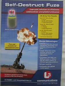 10-2006 PUB L3 COMMUNICATIONS BT FUZE PRODUCTS SELF-DESTRUCT FUZE ORIGINAL AD R9ztQJkT-09110935-230357941