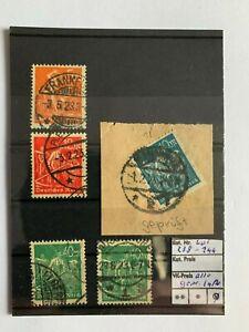 Deutsches Reich, Lot Michel. n. 238 - 244, timbrato, tutti esaminati inaspri