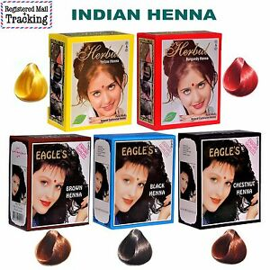 Indian Henna Eagles And Herbul Brand Hair Colour Dye
