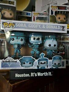 Kingdom Hearts Sora Donald Goofy Chase Tron Pack Set Funko Pop