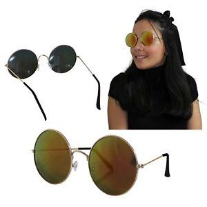 La imagen se está cargando Gafas-De-Sol-Redondas-Mujer-Rojo-Dorada-Espejo- 4cf23e418f1d