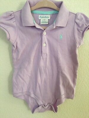 New Baby Girls  Cotton  Polo Bodysuit 6 Months