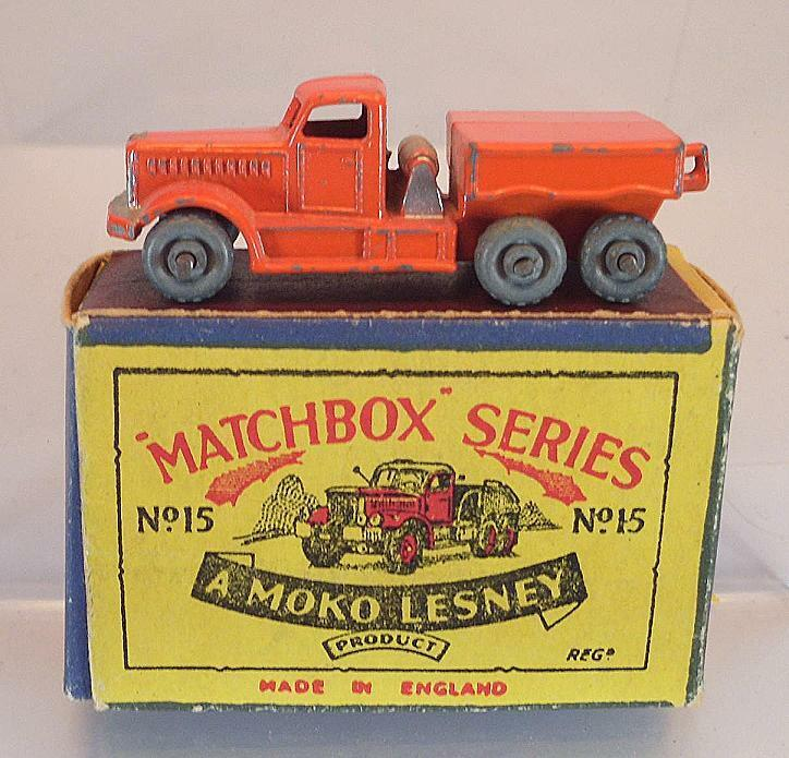 Matchbox Regular Wheels No 15 a Prime Mover orange MTW Lesney b1 OVP