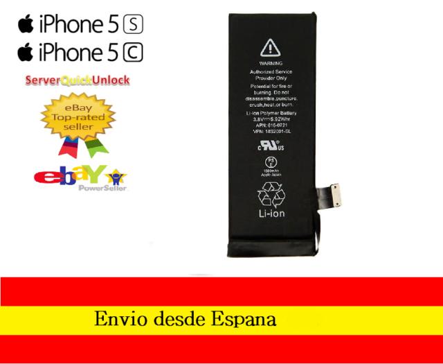 Bateria Apple Original Iphone 5S 5C   APN 616-0721 1560mAh
