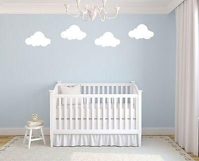 8 Large Clouds Vinyl Sticker kids Childrens Playroom Bedroom Decoration Toy Room