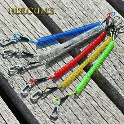 Fishing Lanyards Safety Ropes Camping Secure Retractable Coiled Tether tools zxc