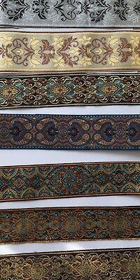 5m//16.41ft Long Retro Ethnic Style Figure Woven Jacquard Ribbon Trim Tape