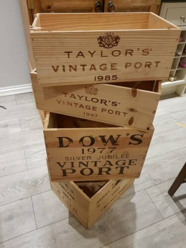 Mixed Size Vintage Port box-Reclaimed Crate Vintage Shabby Chic Home Storage