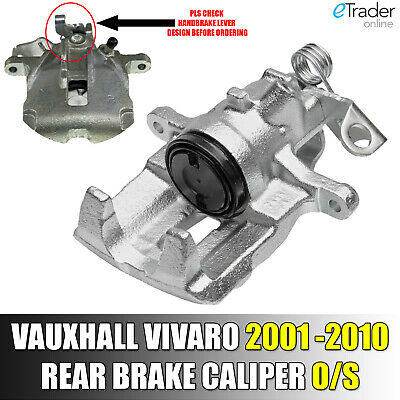 PASSENGER PRIMASTAR VIVARO TRAFIC NEAR LEFT SIDE REAR BRAKE CALIPER 01-14